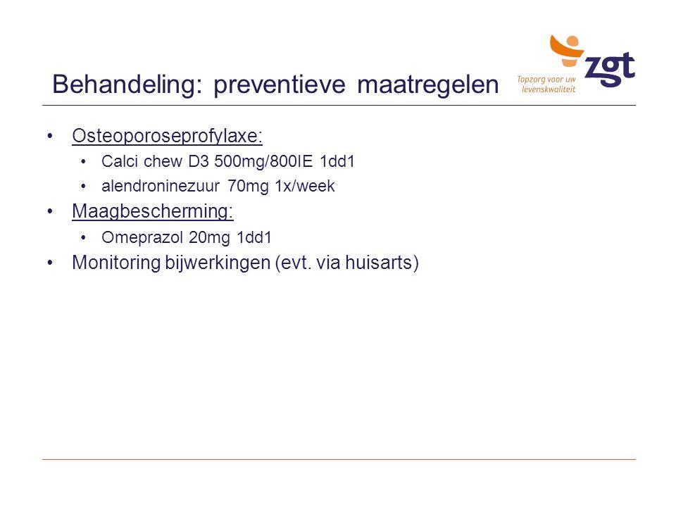 Behandeling: preventieve maatregelen