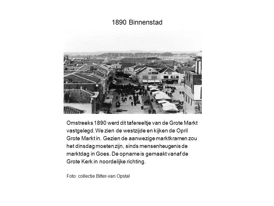 1890 Binnenstad Omstreeks 1890 werd dit tafereeltje van de Grote Markt