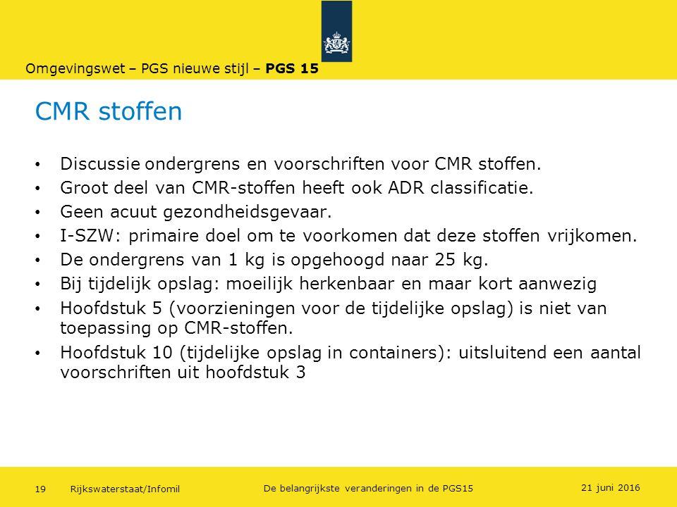 CMR stoffen Discussie ondergrens en voorschriften voor CMR stoffen.