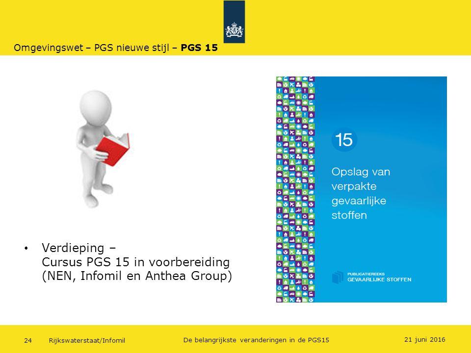 Omgevingswet – PGS nieuwe stijl – PGS 15