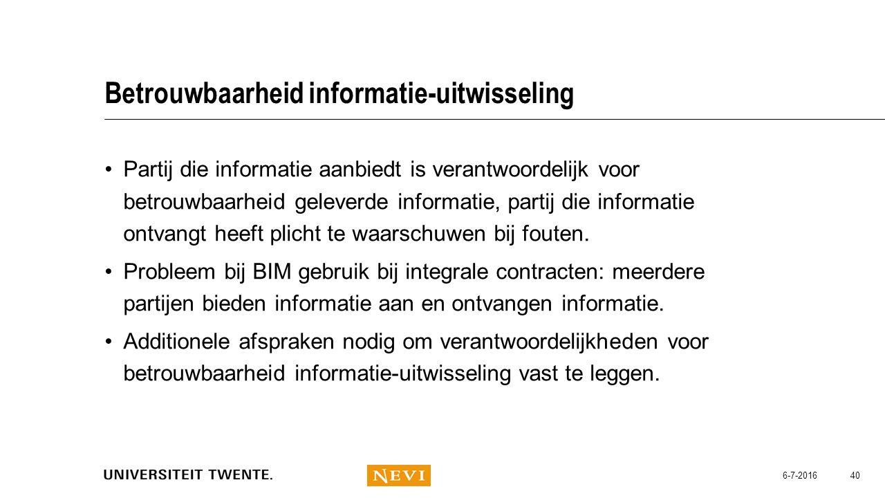 Betrouwbaarheid informatie-uitwisseling