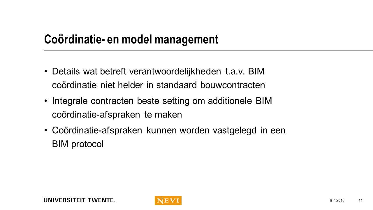 Coördinatie- en model management