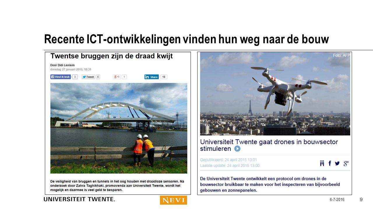 Recente ICT-ontwikkelingen vinden hun weg naar de bouw