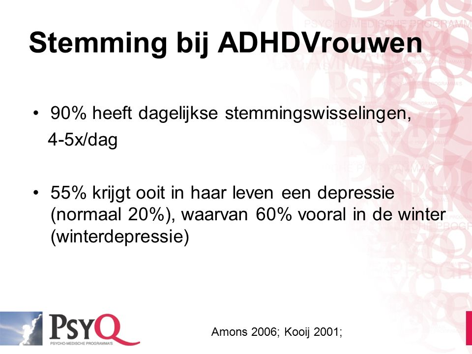 Stemming bij ADHDVrouwen