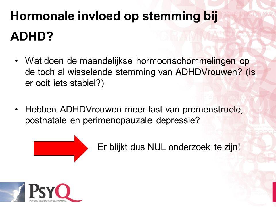 Hormonale invloed op stemming bij ADHD