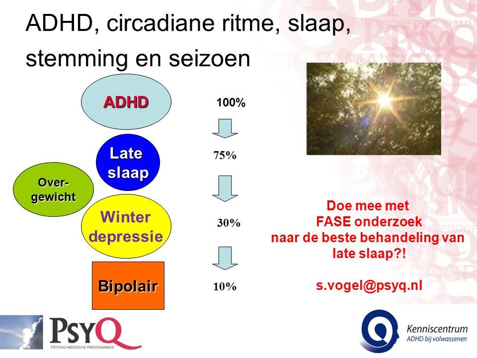 ADHD, circadiane ritme, slaap, stemming en seizoen