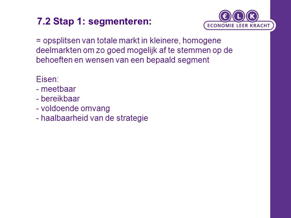 7.2 Stap 1: segmenteren: