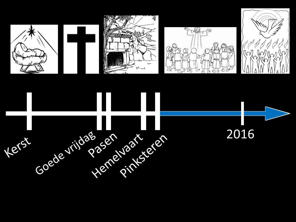 2016 Pasen Kerst Goede vrijdag Hemelvaart Pinksteren