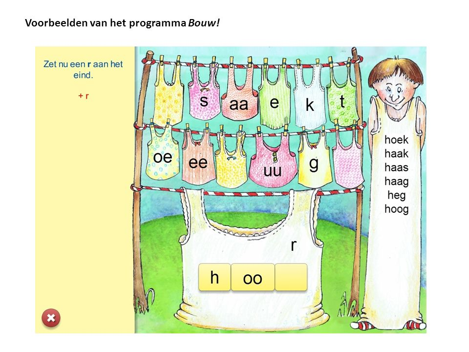 Voorbeelden van het programma Bouw!