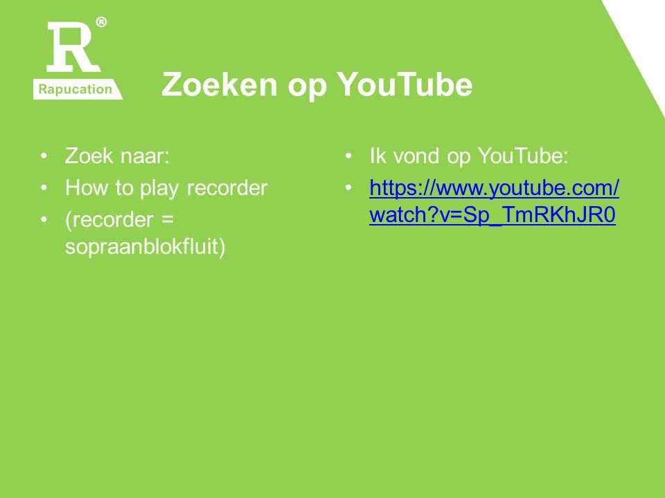 Zoeken op YouTube Zoek naar: How to play recorder