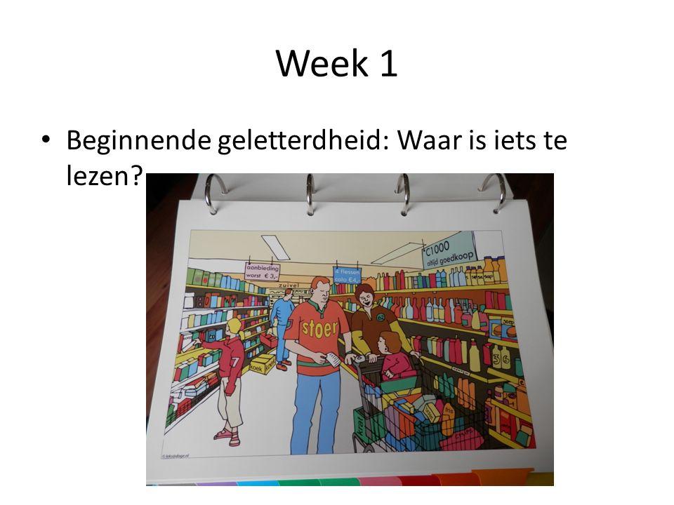 Week 1 Beginnende geletterdheid: Waar is iets te lezen