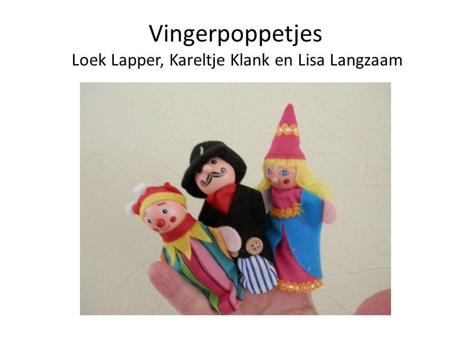 Vingerpoppetjes Loek Lapper, Kareltje Klank en Lisa Langzaam