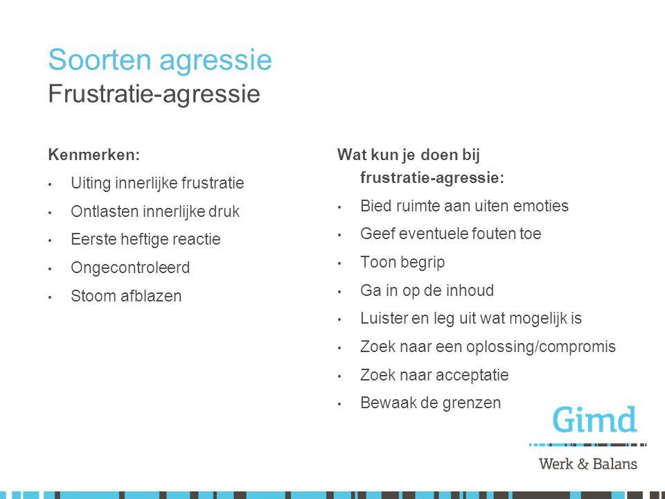 Soorten agressie Frustratie-agressie