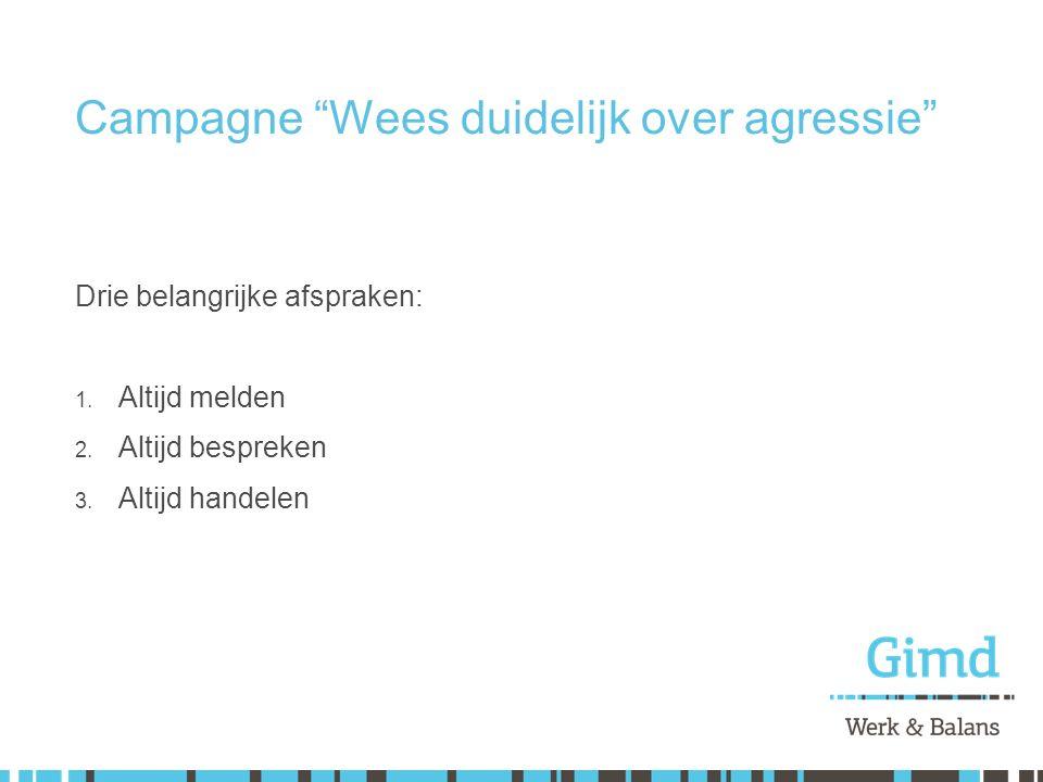 Campagne Wees duidelijk over agressie