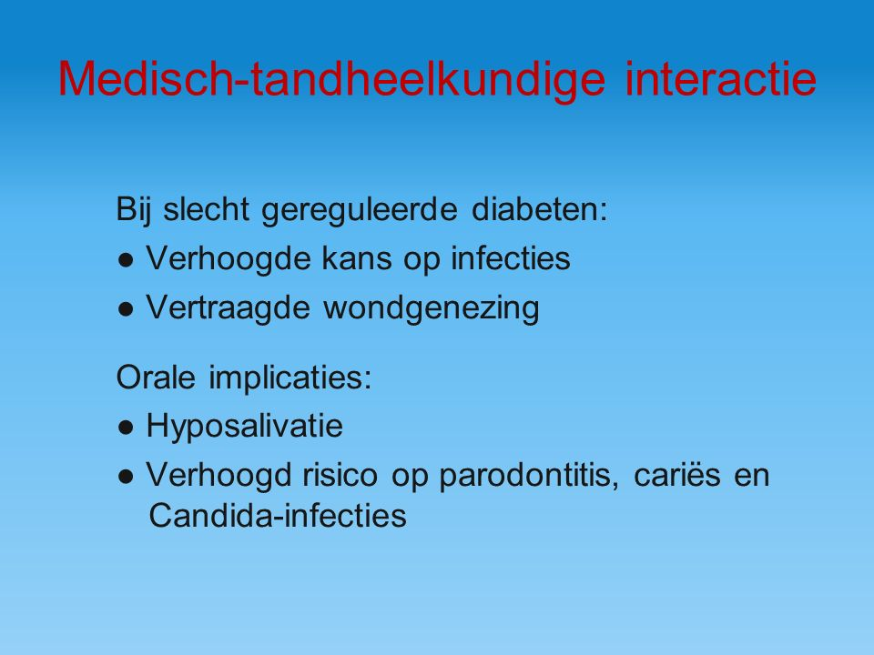Medisch-tandheelkundige interactie