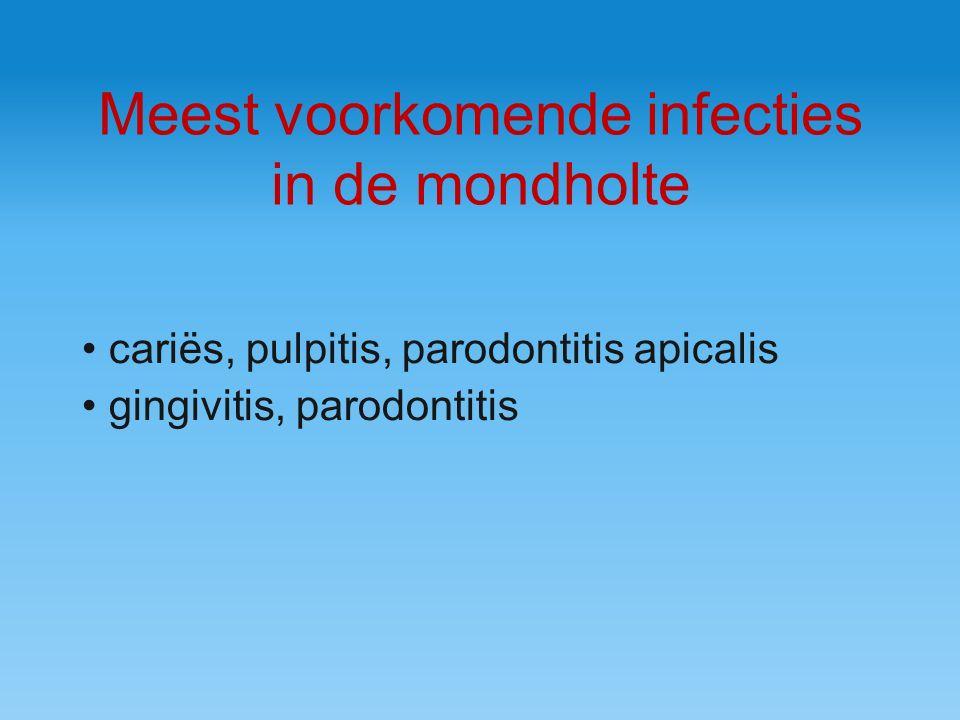 Meest voorkomende infecties in de mondholte