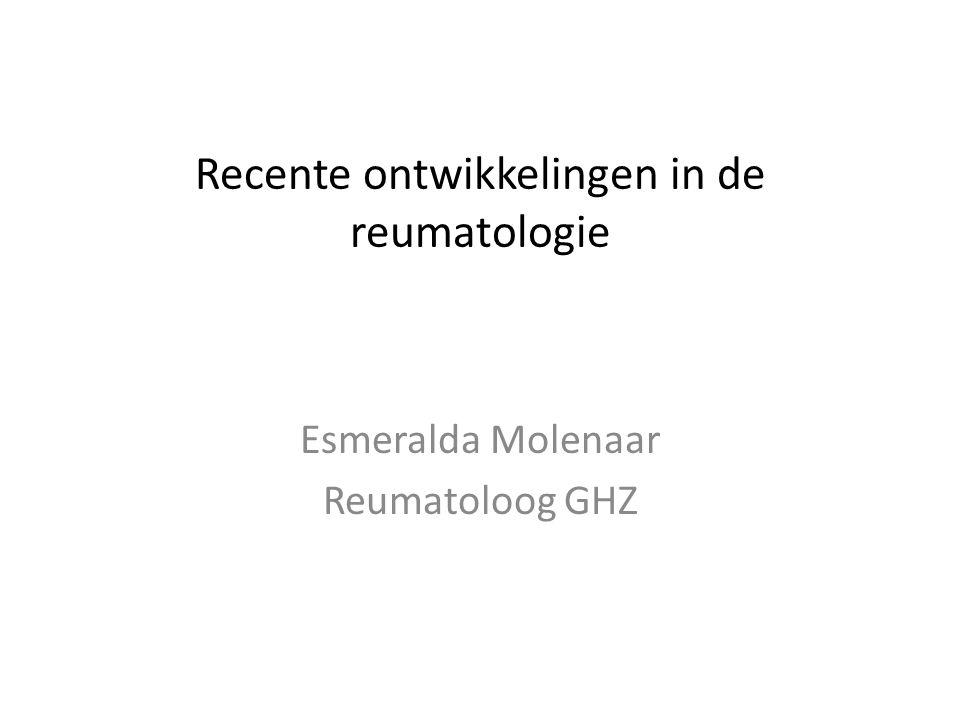 Recente ontwikkelingen in de reumatologie