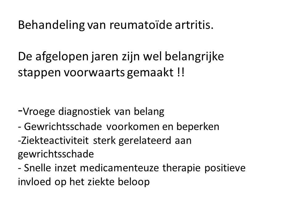Behandeling van reumatoïde artritis
