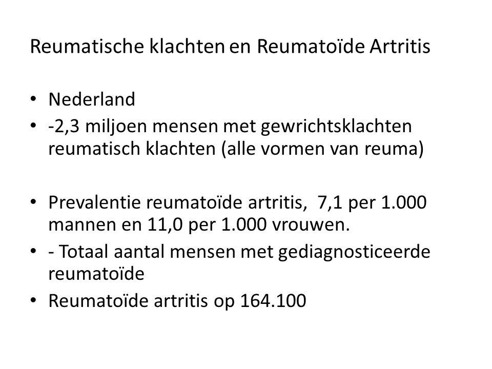 Reumatische klachten en Reumatoïde Artritis