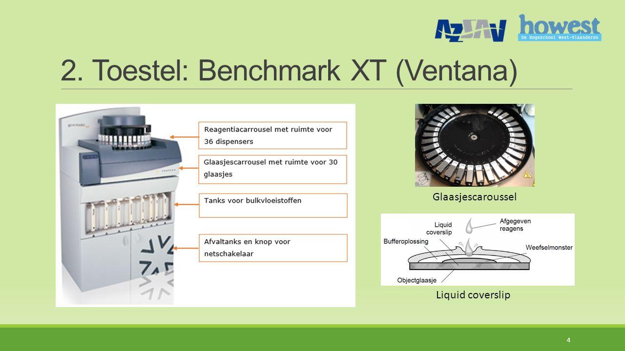 2. Toestel: Benchmark XT (Ventana)