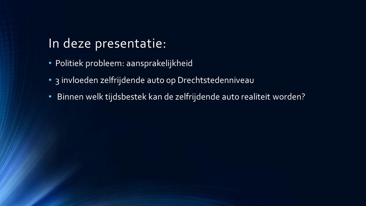 In deze presentatie: Politiek probleem: aansprakelijkheid