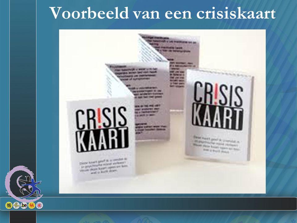 Voorbeeld van een crisiskaart