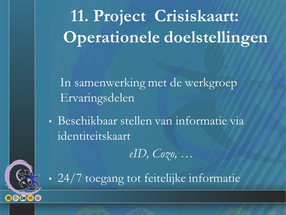 11. Project Crisiskaart: Operationele doelstellingen