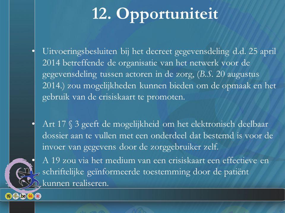 12. Opportuniteit