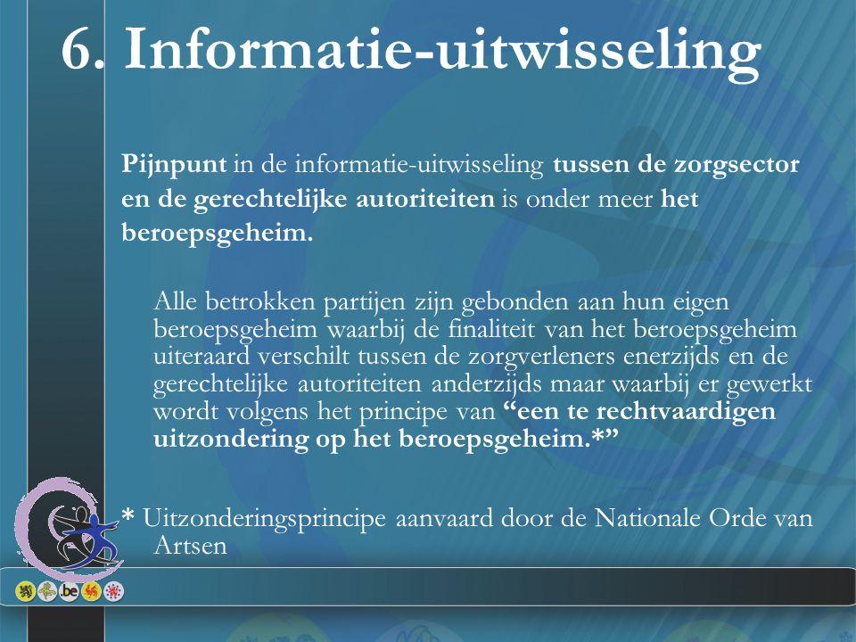 6. Informatie-uitwisseling