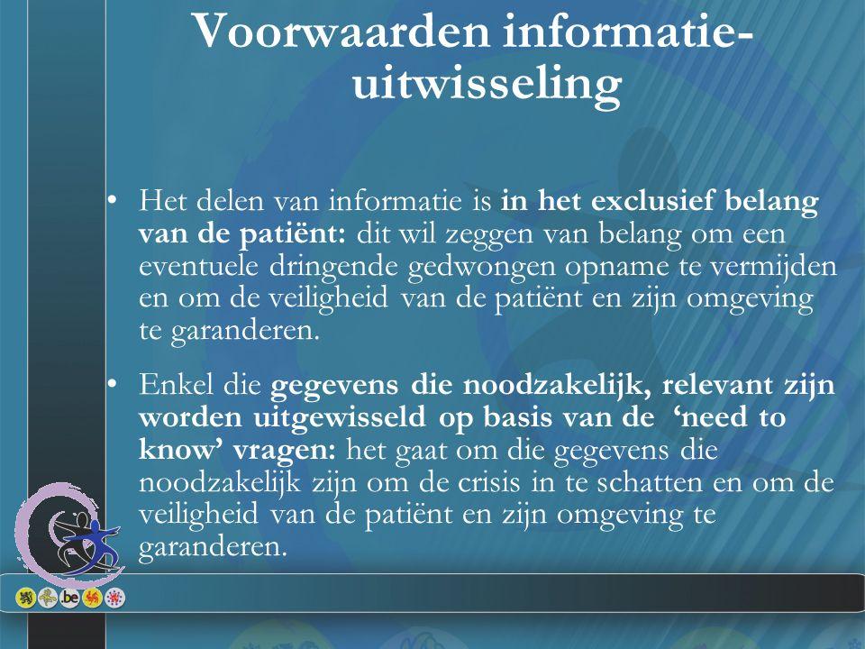 Voorwaarden informatie-uitwisseling