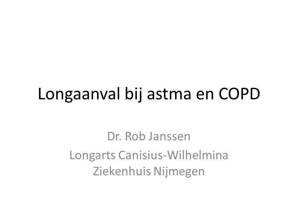 Longaanval bij astma en COPD