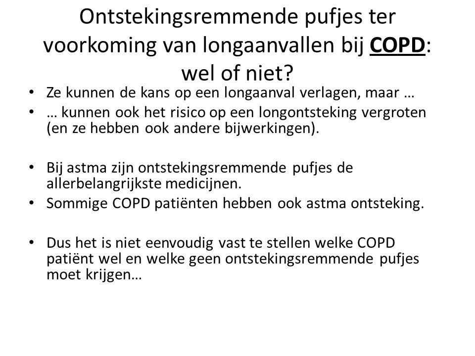 Ontstekingsremmende pufjes ter voorkoming van longaanvallen bij COPD: wel of niet