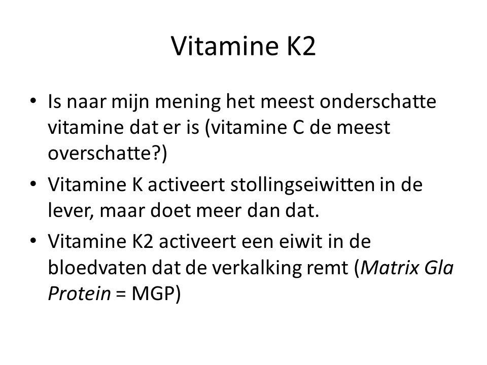 Vitamine K2 Is naar mijn mening het meest onderschatte vitamine dat er is (vitamine C de meest overschatte )
