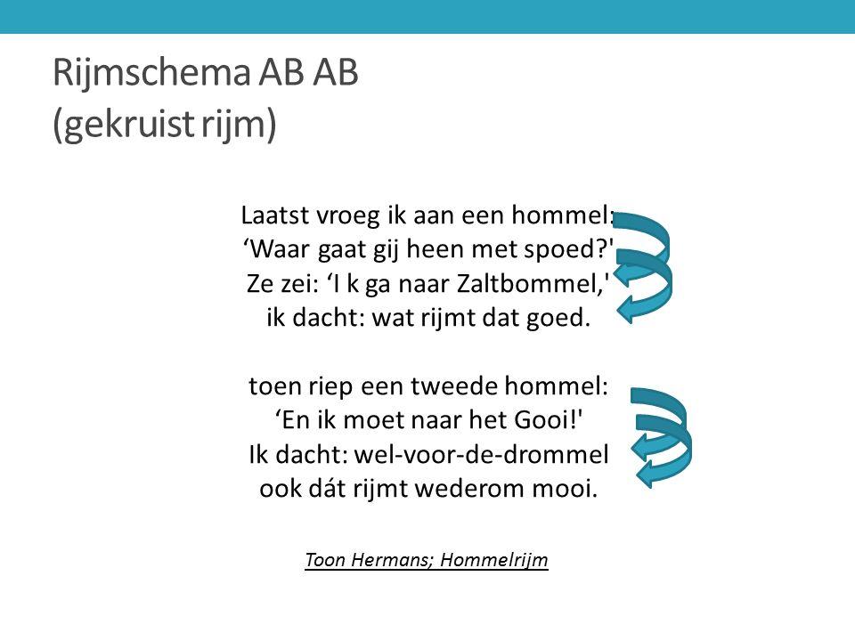 Rijmschema AB AB (gekruist rijm)