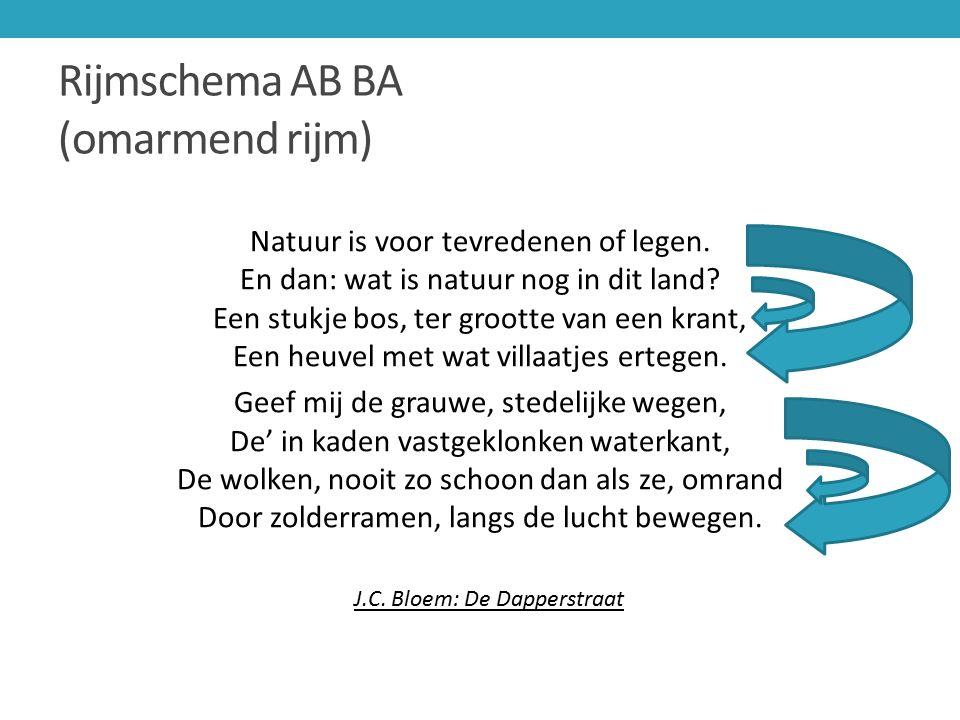 Rijmschema AB BA (omarmend rijm)