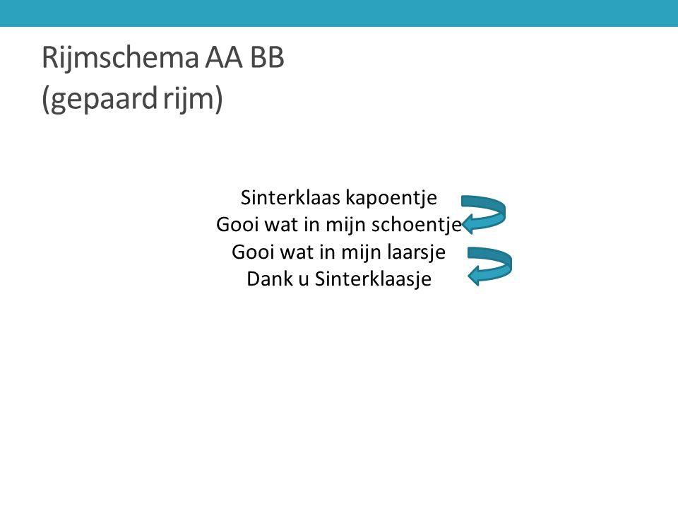 Rijmschema AA BB (gepaard rijm)