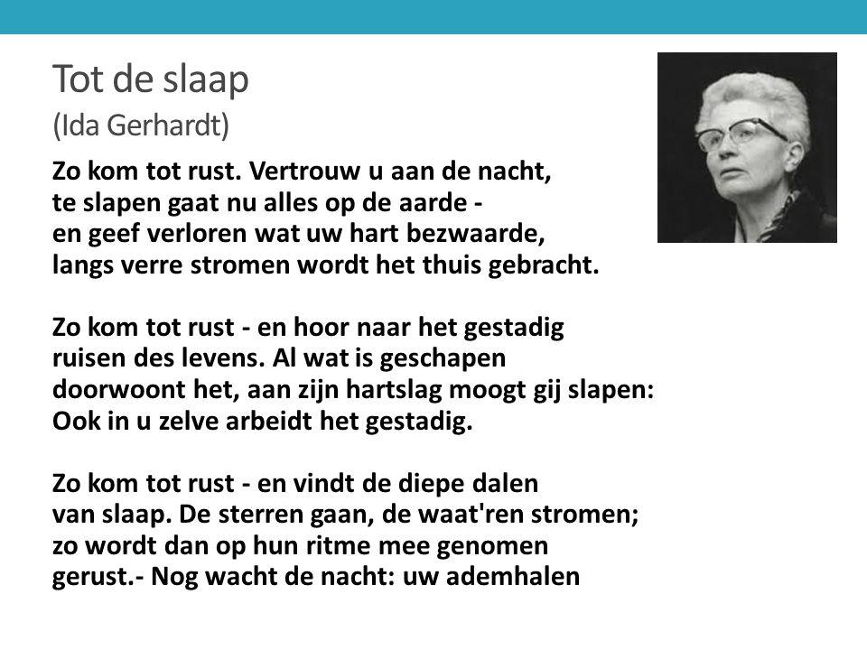 Tot de slaap (Ida Gerhardt)