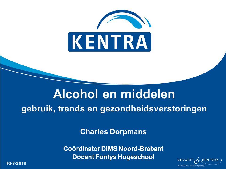Alcohol en middelen gebruik, trends en gezondheidsverstoringen