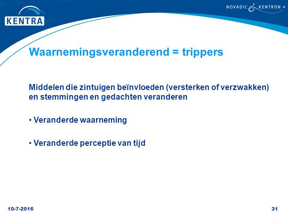 Waarnemingsveranderend = trippers