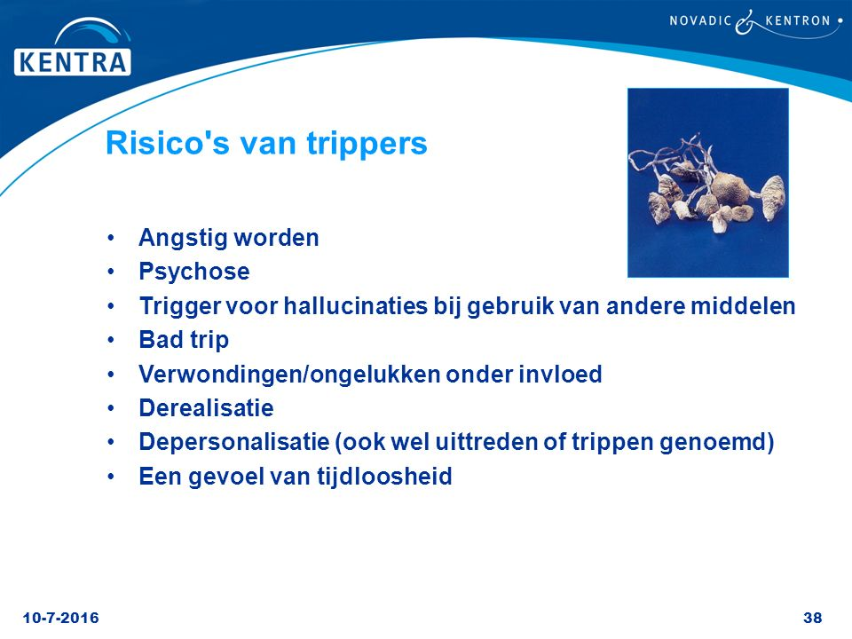 Risico s van trippers Angstig worden Psychose