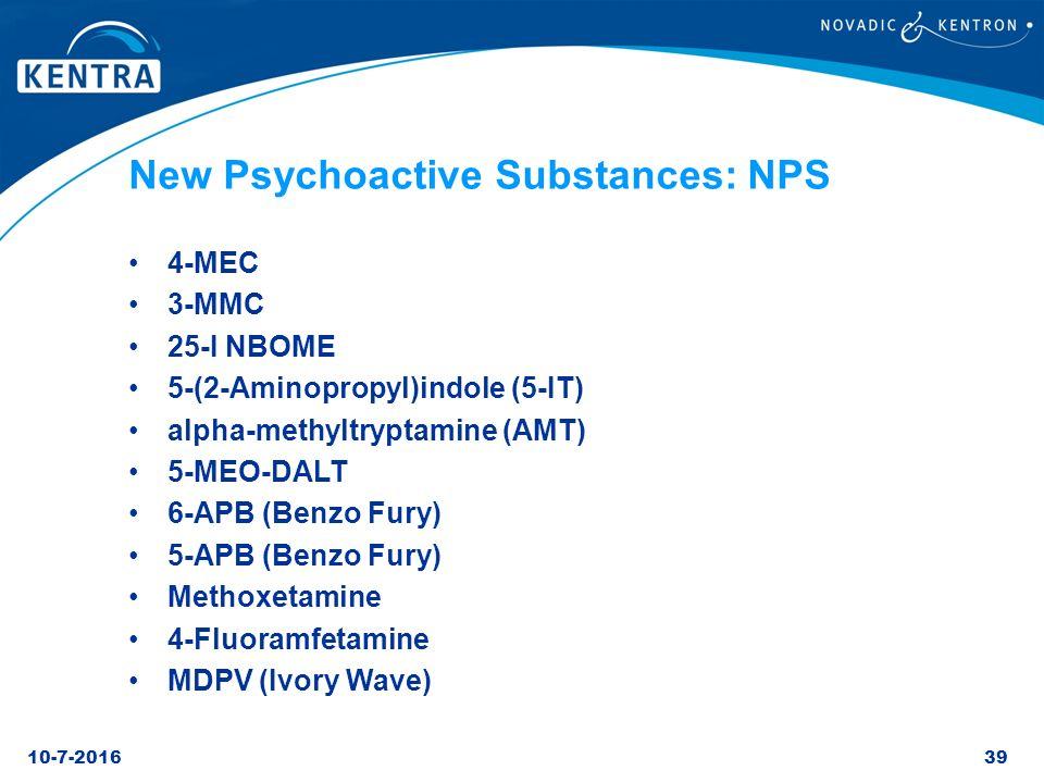 New Psychoactive Substances: NPS