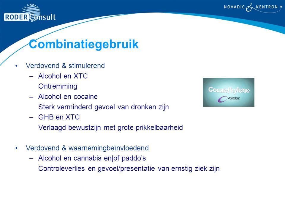 Combinatiegebruik Verdovend & stimulerend Alcohol en XTC Ontremming