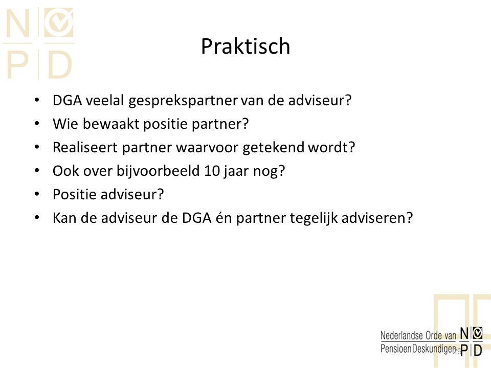 Praktisch DGA veelal gesprekspartner van de adviseur
