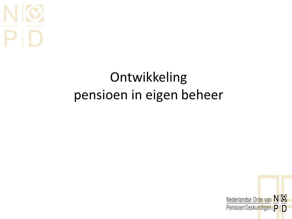 Ontwikkeling pensioen in eigen beheer