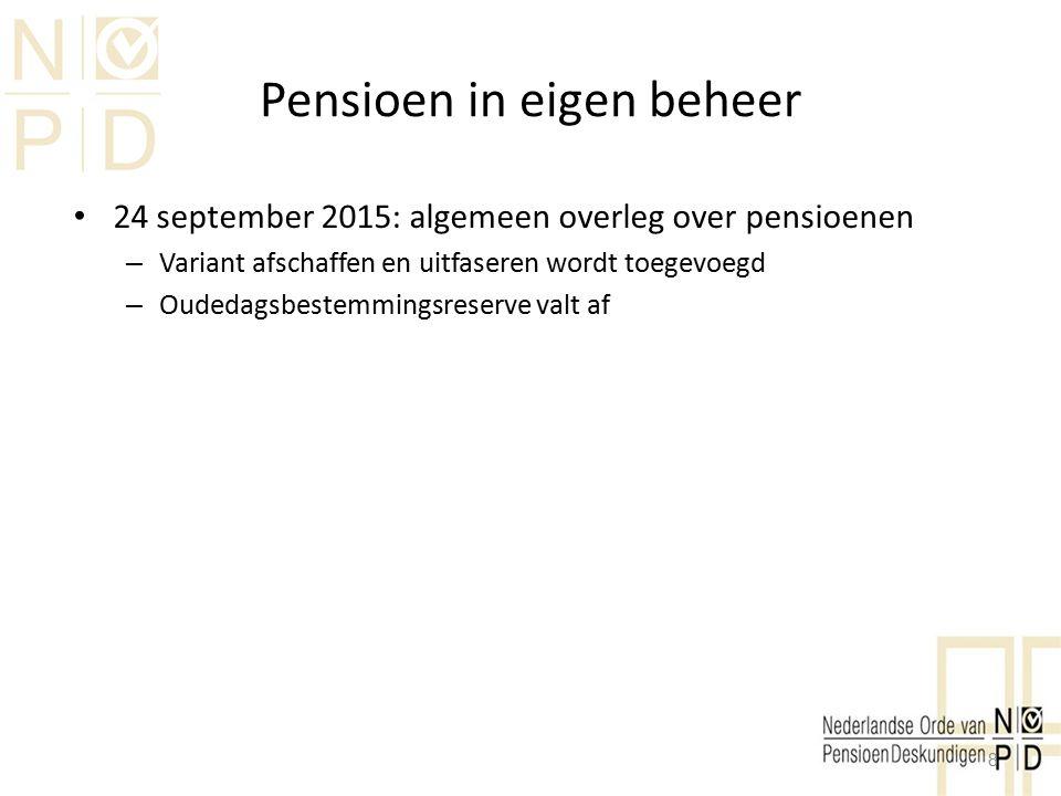 Pensioen in eigen beheer