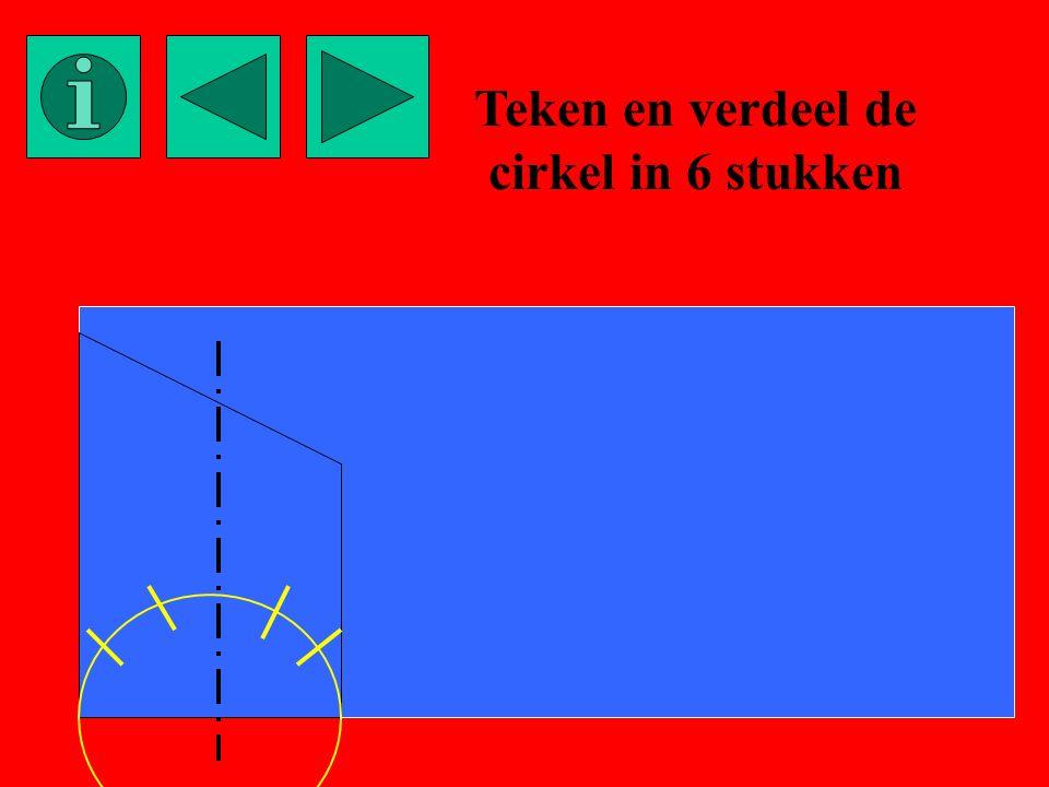 Teken en verdeel de cirkel in 6 stukken