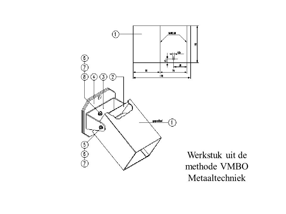 Werkstuk uit de methode VMBO Metaaltechniek