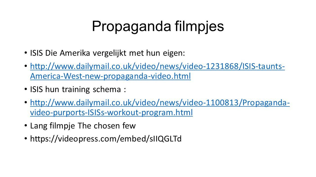 Propaganda filmpjes ISIS Die Amerika vergelijkt met hun eigen: