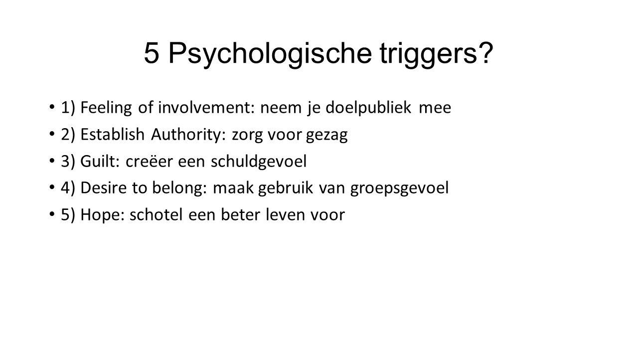 5 Psychologische triggers