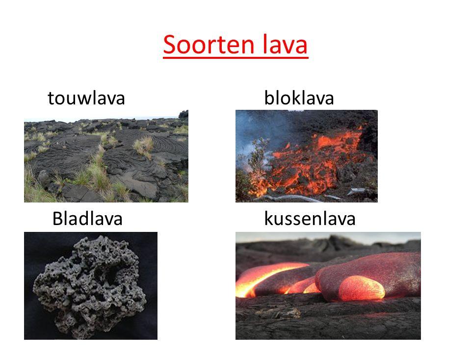 Soorten lava touwlava bloklava Bladlava kussenlava